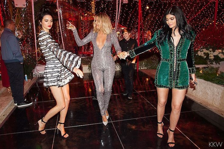 Kardashian Christmas Party 2015 | Pictures | POPSUGAR Celebrity