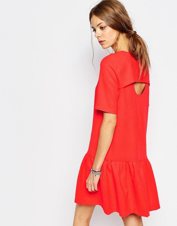 ASOS Suncoo Open Back Drop Waist Dress ($152) - If green means go, then read means stop... for compliments. Which is exactly what this little red number will get you.
