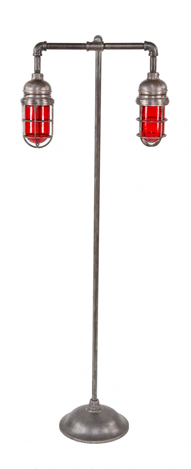 Red Pipe Lamp : Explosion proof floor lamp quot double