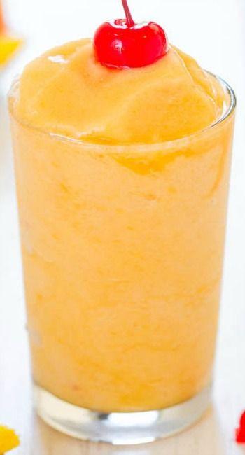 Tropical Peach Pineapple Slushies...