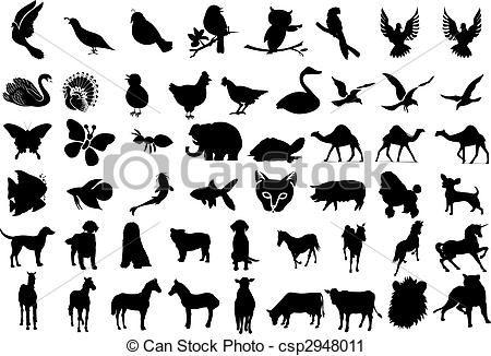 벡터 - 동물, 실루엣 - 스톡 일러스트, 저작권 구애 받지 않는 일러스트, 스톡 클립아트 아이콘, 로고, 라인아트, EPS 사진, 그래픽, 그림, 벡터 이미지, 삽화, EPS 벡터 아트