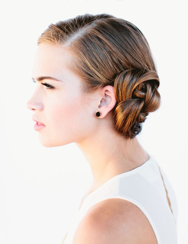 This French braid bun is easy to execute and stunningly elegant. Win.