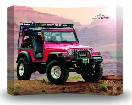 Pink Jeep Wrangler.