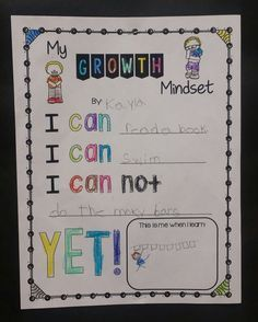 Growth Mindset is SO POWERFUL!  Such a cute activity and easily turned into an inspirational bulletin board!  Perfect for back to school!