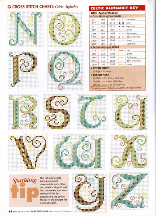 Gut gemocht 500 best Alphabets 1/5 - Broderie point de croix - Cross stitch  DK04