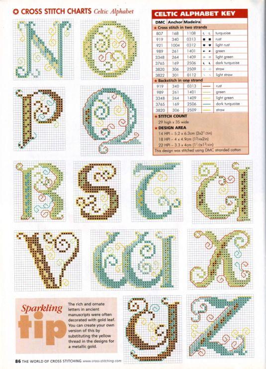 Gut gemocht 500 best Alphabets 1/5 - Broderie point de croix - Cross stitch  DK04