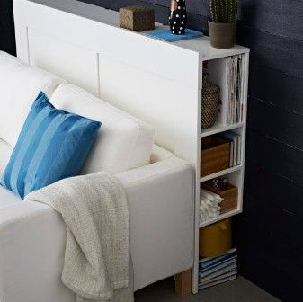 Headboard idea -- could put faux tiles on the front
