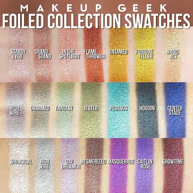 Blogged! 10 NEW Foiled Eyeshadows available now for pre-order from Makeup Geek. All the deets on my blog.   http://lipdrama.blogspot.com/2015/04/sneak-peek-new-makeup-geek-foiled.html