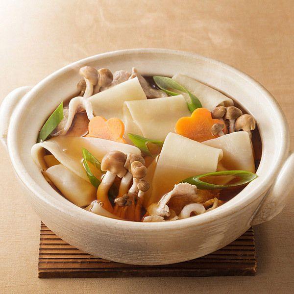 [ご当地グルメ:群馬]つけ麺、かけ、煮込みなど、お好みに合わせて。【樽沢 ひもかわうどん】