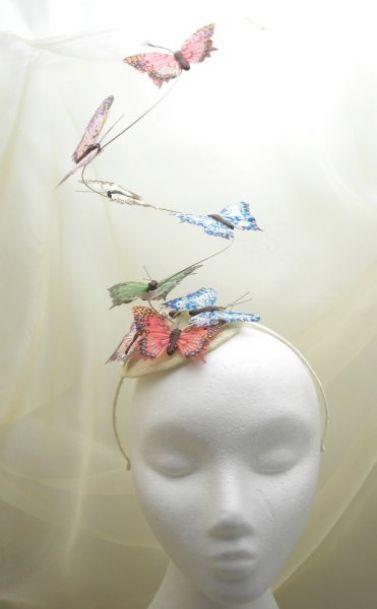 Multi Coloured Butterfly Mini Hat Fascinator