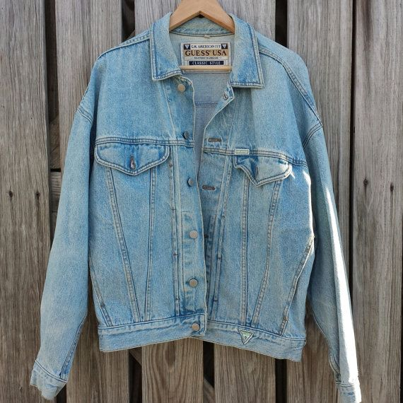 1980s Vintage Guess Jean Jacket Vintage Denim Jacket Denim Vest