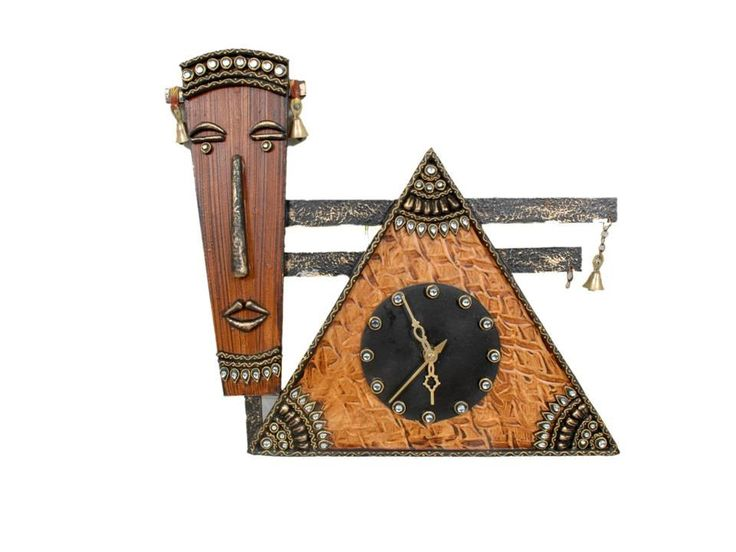 Handmade Paper Mache Wall Hanging Elegant Wall Clock from Ethnic Craftsmen of Rajasthan in India which makes a beautiful Gift and Decor by MatureSourcing on Etsy
