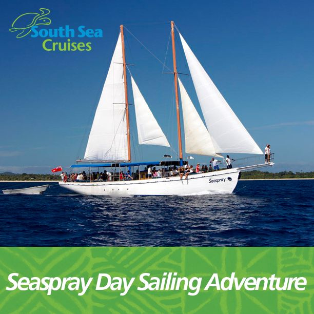 A magnificent day on the water! This full day sailing cruise includes a Fijian village visit and time ashore at Modriki Island from Tom Hanks movie 'Cast Away'. - See more at: http://www.ssc.com.fj/day-cruises/seaspray-day-sailing-adventure/#sthash.2bsj0Gt5.dpuf