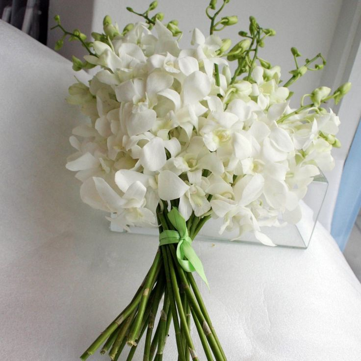 orchid wedding bouquets   Bouquets   White Dendrobium Orchid Flowergirl Bouquet   Bridal Flowers ...
