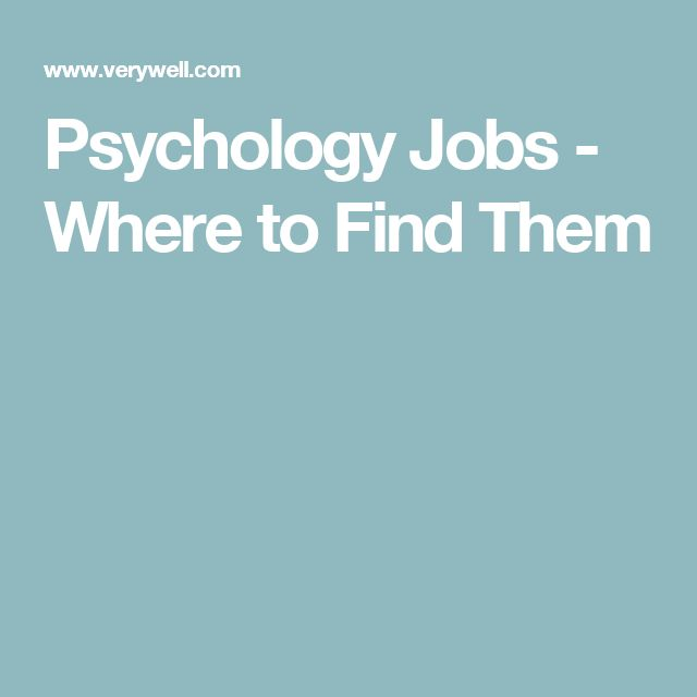 Psychology Jobs - Where to Find Them