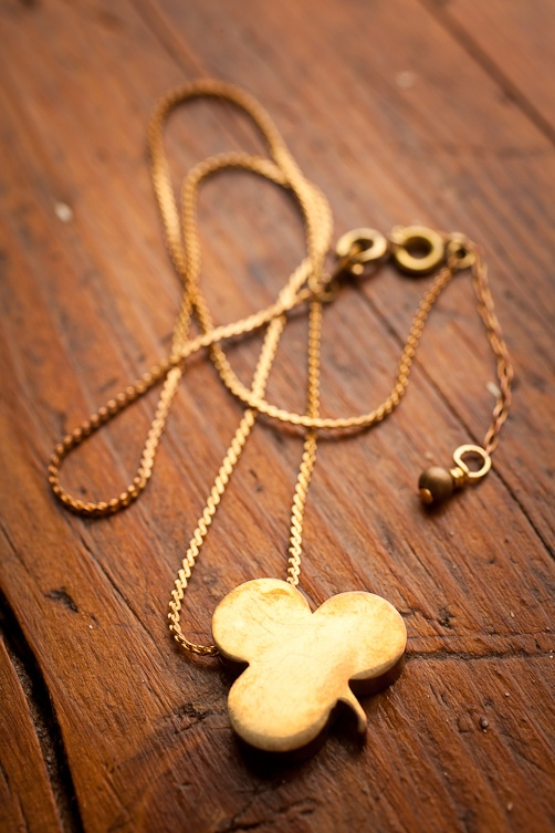 Brass Clover Necklace by Robinson Lane for BourbonandBoots.com