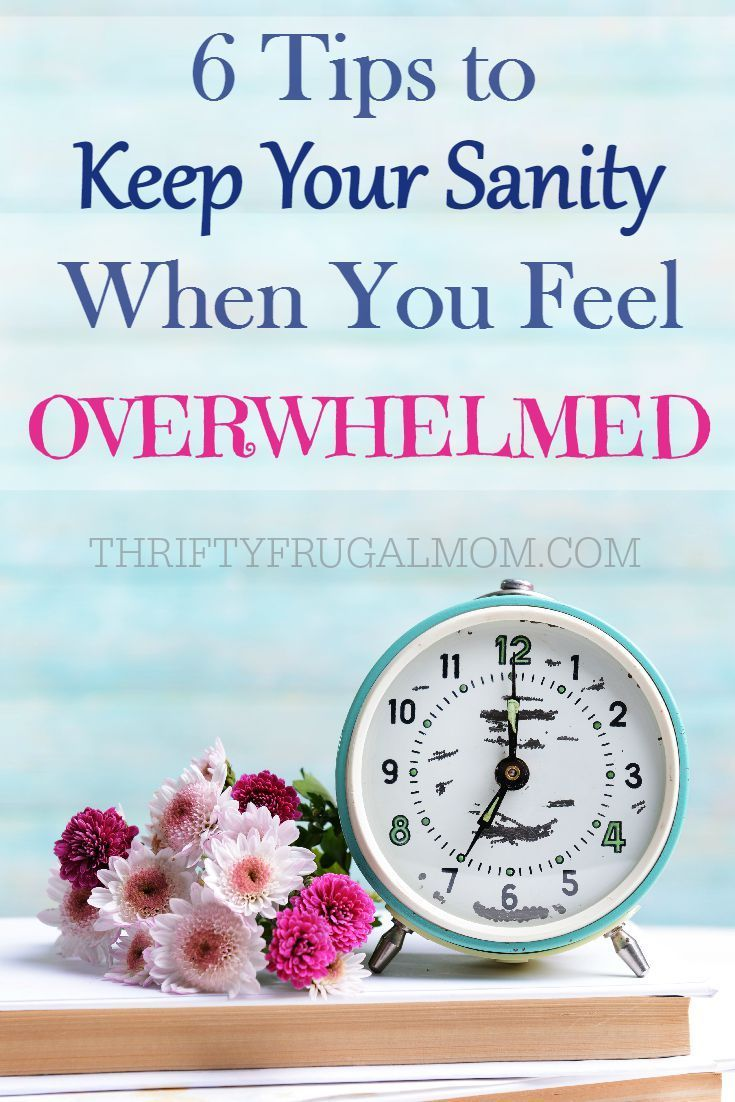 Feel stressed because life is way too busy and there's too much to do? These 6 things have helped me keep my sanity when I'm in a season of feeling overwhelmed.