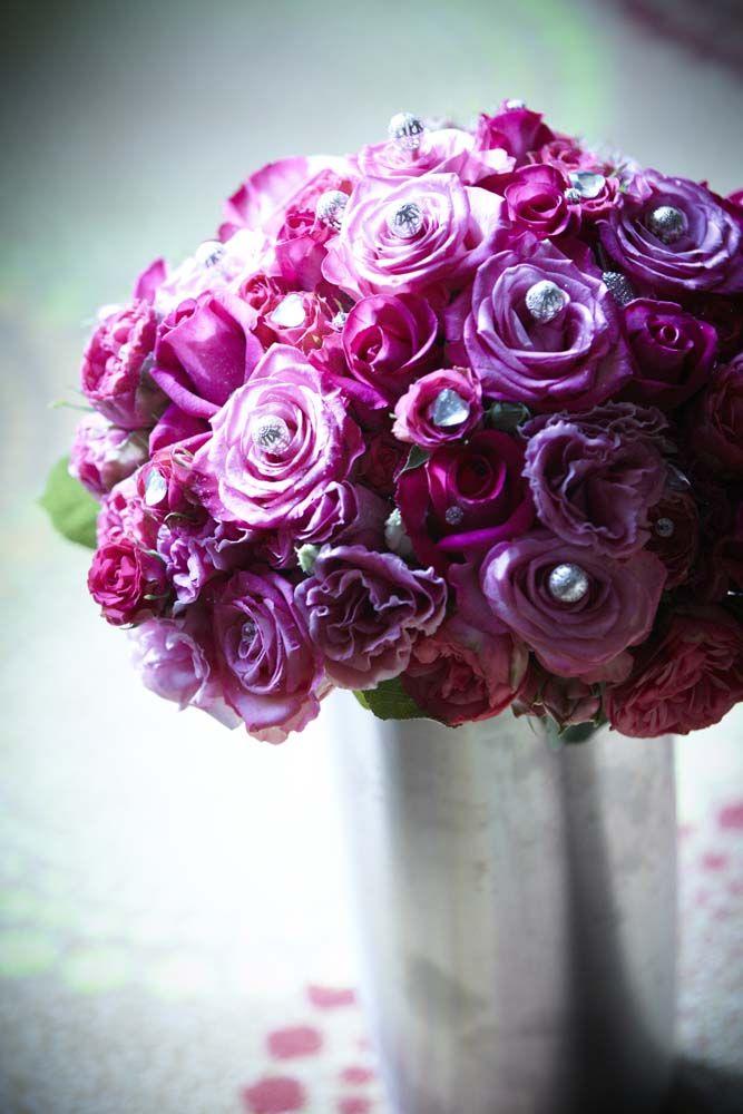Menyasszonyi csokor pink