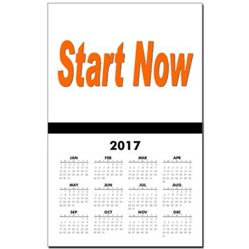Start Now! By Khoncepts Calendar Print by Khoncepts