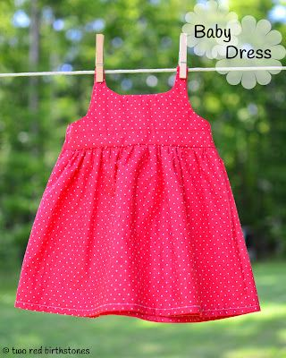Simple DIY baby dress. Could use a contrasting fabric for the top, waistband or even add a tuxedo panel!