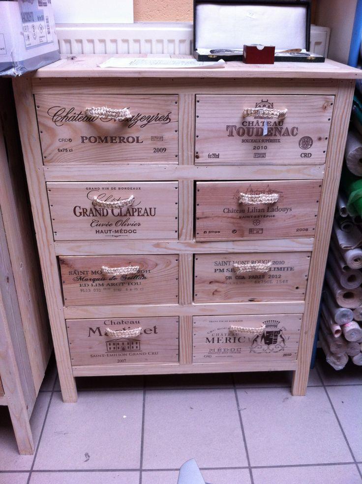 281 best caisse a vin images on pinterest wine boxes. Black Bedroom Furniture Sets. Home Design Ideas