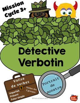 French Verbs// Verbotin: Portrait d'un monstre. Pratiquer le présent, l'imparfait et le futur simple pour compléter un exercice de compréhension.