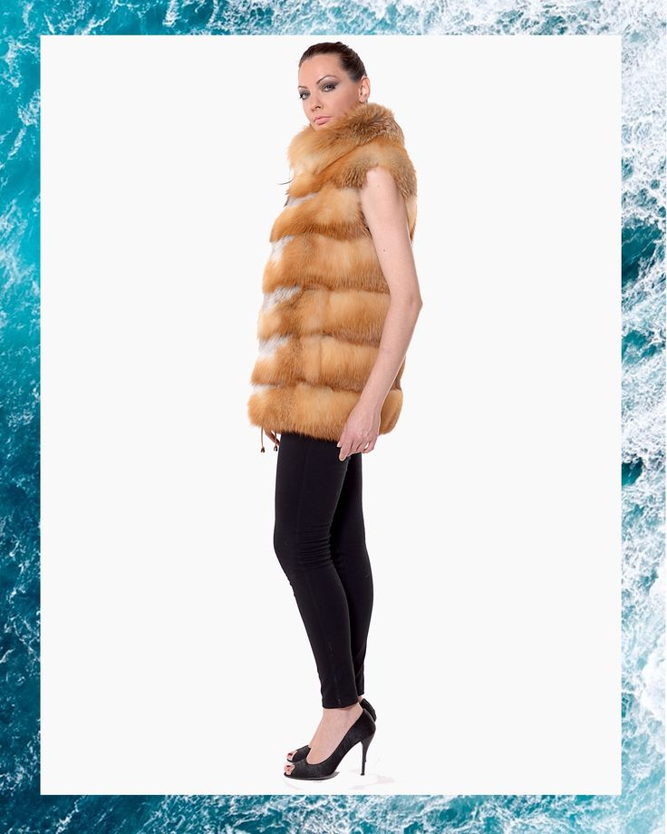 Make a stylish appearance with this golden fox vest.