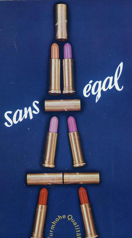vintage French lipstick advertisement
