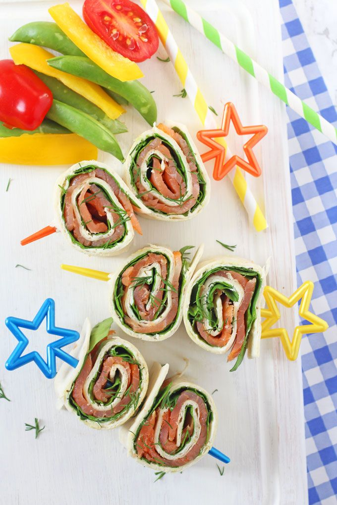 Salmon, Cream Cheese and Spinach Pinwheels
