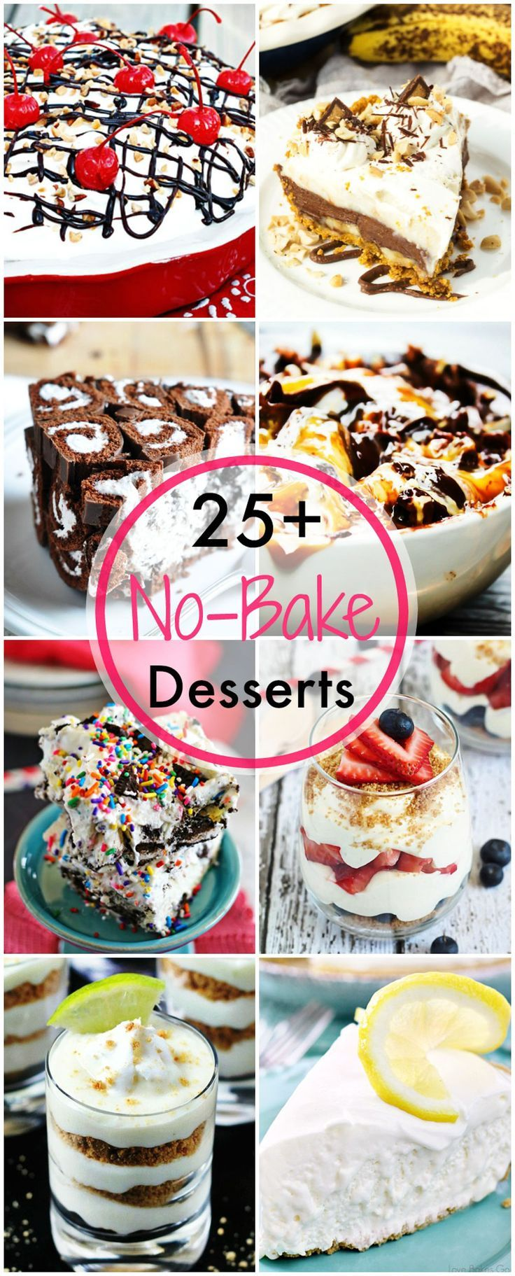 From pies to ice cream and tarts to cakes, here are 25+ no bake desserts to satisfy your summer cravings!