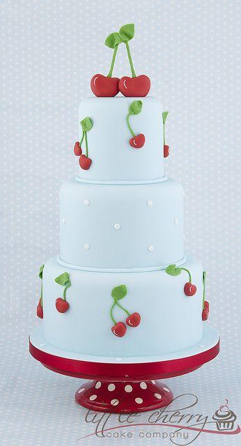Cherry Wedding Cake by Little Cherry Cake Company, via Flickr