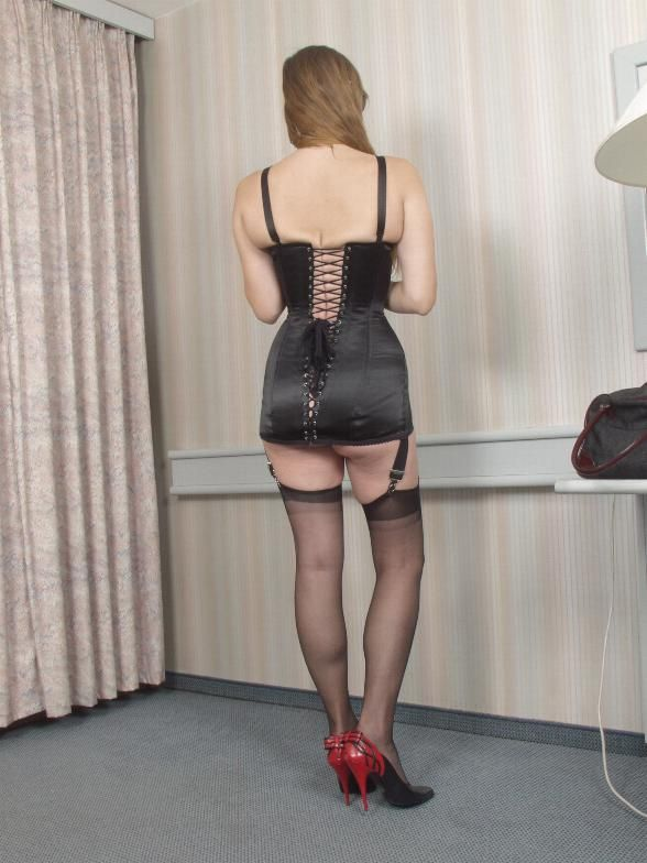 Vintage corset and stockings http://corsetwoman.blogspot ...