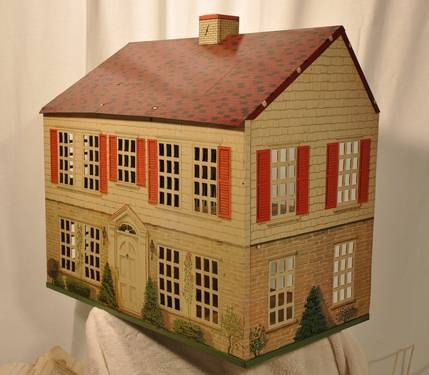Playsteel (Nat'l Can Corp.) Vintage Tin Litho Dollhouse