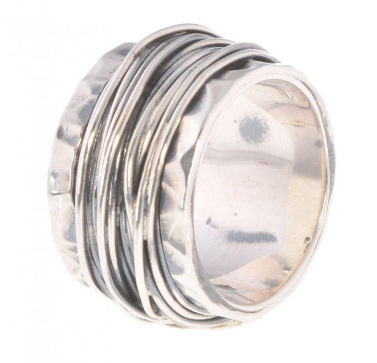 Robuste ring van 925 sterling zilver geoxideerd in draad gewikkeld Jéh Jewels | Ringen | StudioBrecht Mode Accessoires Workshops Cadeaus