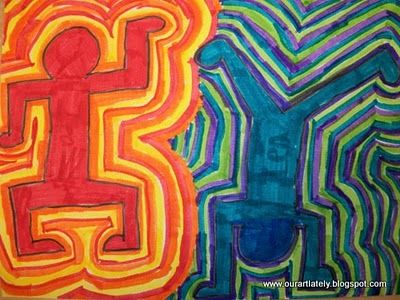 I want to do some 2D and 3D projects with my kids on Keith Haring.