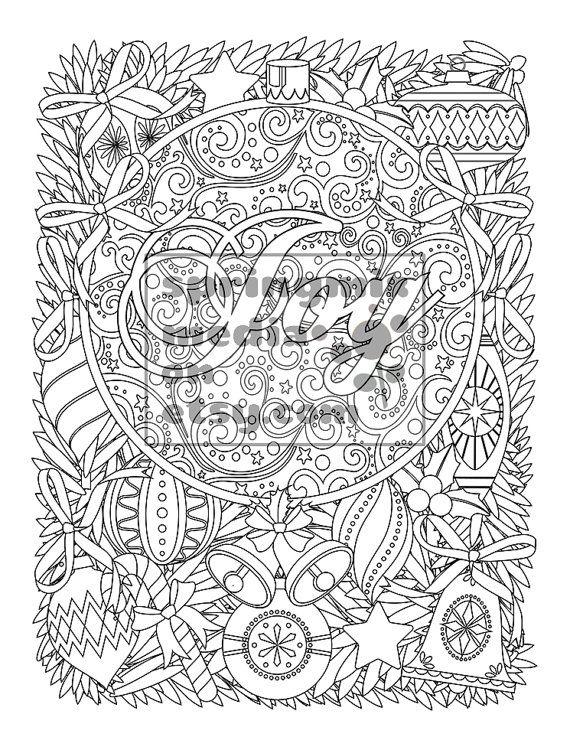Printable Xmas Coloring Page