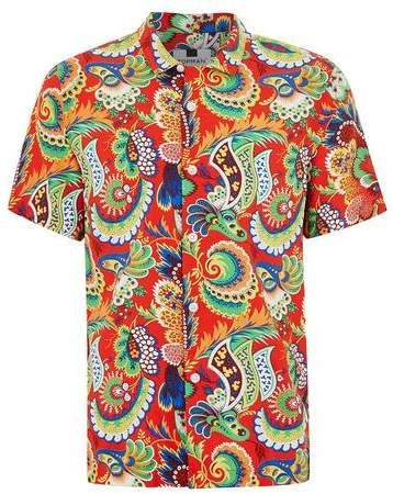 2f685aff Loving this bold multi-color paisley print shirt from Topman. Tastefully  loud look that you can rock all summer long. Really stand out for all of  the right ...