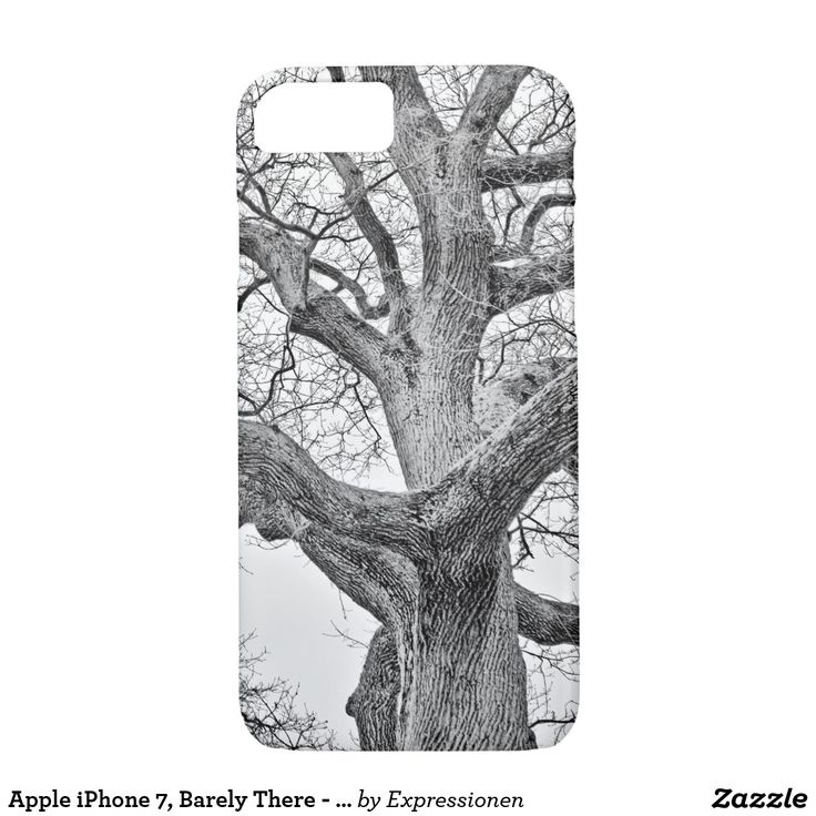 Apple iPhone 7, Barely There - Safe it! #smartphone #cover #cases #iphone #handy #handyhuelle #otterbox #eiche #oak #winter #schwarzweiss #blackandwhite #sw #bw