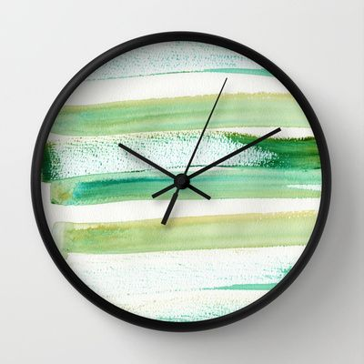 Green Obsession Wall Clock by Alina Sevchenko - $30.00