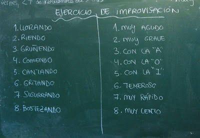 El pasado viernes, en clase de Lengua, estuvimos trabajando una técnica muy sencilla de improvisación teatral. Consiste en leer un texto co...