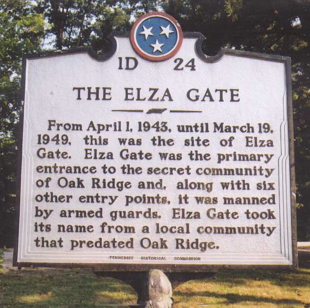 Historical Markers of Oak Ridge