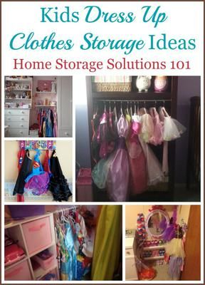 Kids dress up clothes storage and organization ideas {on Home Storage Solutions 101}