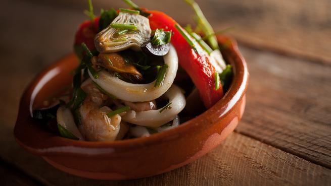 Salade froide de fruits de mer