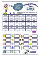 This worksheet consists of differerent exercises dealing with some English words which can be easily confused ( the topics are: clothes, sports, money...) Key is given. - ESL worksheets