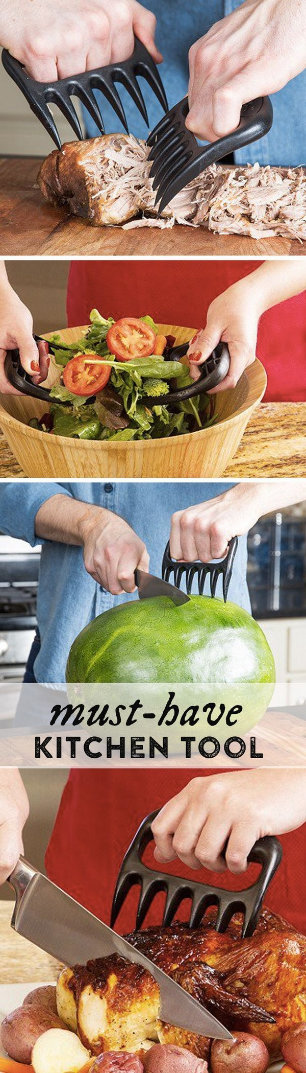 Bear Paws are sturdy meat shredding claws that can turn you into a culinary Edward Scissorhands. Grip these Made in the USA claws to easily shred pulled pork, chicken, or any other food you want to tear up.