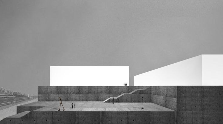 Architecture competition. Icehockey and Volleyball Stadium in Zürich. A real Belvedere facing the Alps. 2012, Switzerland.