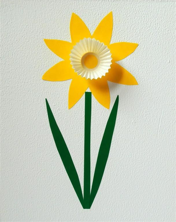 Daffodil made with small paper cases