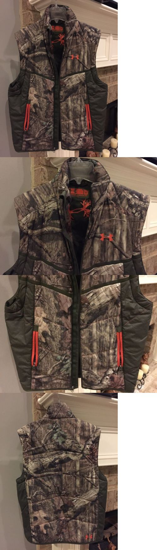 Coats and Jackets 177868: M Under Armour Mens Puffer Vest Full Zip Up Camouflage Mossy Oak Break Up Nwot BUY IT NOW ONLY: $64.99