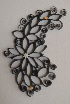 Cool DIY Toilet Paper Roll Wall Art                                                                                                                                                     More