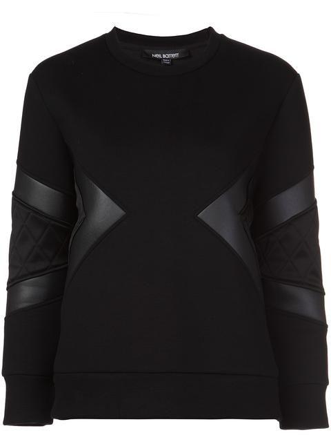 NEIL BARRETT quilted neoprene sweatshirt. #neilbarrett #cloth #sweatshirt
